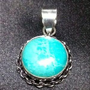 Jewelry - Larimar & Sterling Silver Pendant